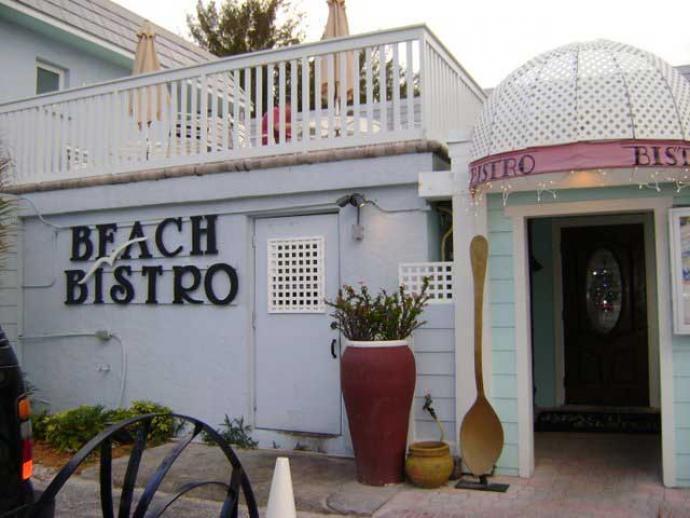 beach bistro outside entrance