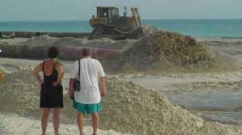 beach restoration in progress