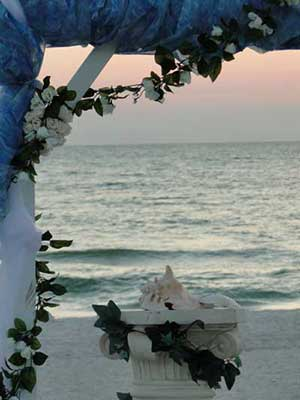 Beach wedding on Anna Maria Island at White Sands Beach Resort