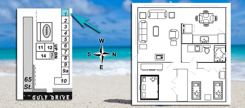 room 1 layout and location