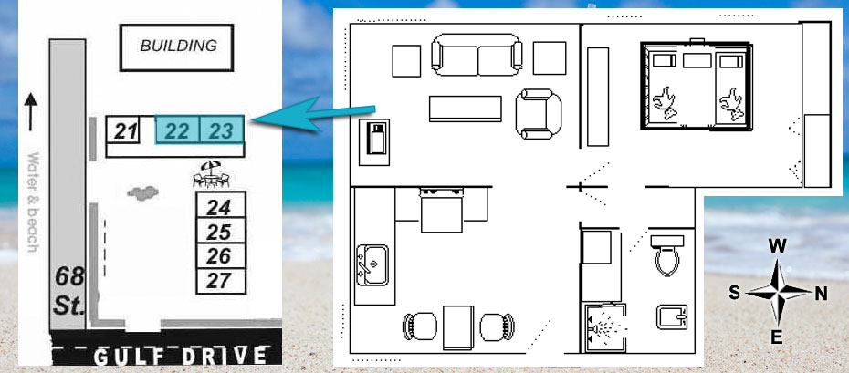 layout of rooms 22 and 23
