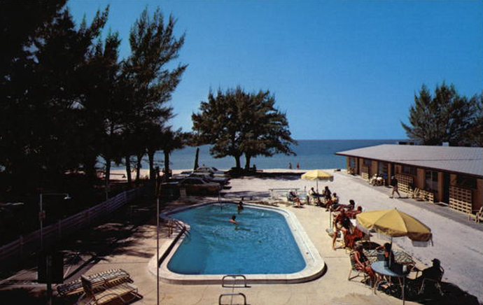 vintage postcard of White Sands Beach Resort